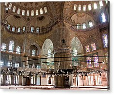 Blue Mosque Wide Acrylic Print