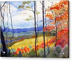 Acrylic Print featuring the painting Blue Ridge Mountains Of West Virginia by Katherine Miller