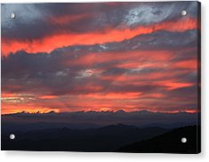 Blue Ridge Parkway Sunset-north Carolina Acrylic Print by Mountains to the Sea Photo