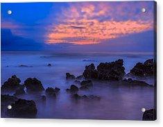 Blue Sunrise 1 Acrylic Print by Leigh Anne Meeks