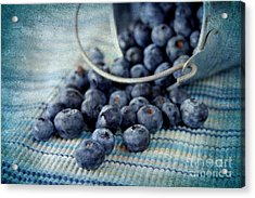 Blueberries Acrylic Print by Darren Fisher