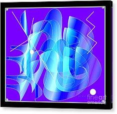 Blueprint Acrylic Print by Iris Gelbart