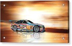 Bmw M3 Art Car Acrylic Print