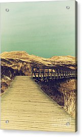 Boarded Walkway Acrylic Print by Angela Doelling AD DESIGN Photo and PhotoArt