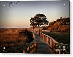 Boardwalk At Fort Fisher Acrylic Print