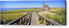 Boardwalk Leading Towards Old Harbor Acrylic Print by Panoramic Images