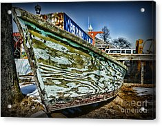Boat Forever Dry Docked Acrylic Print by Paul Ward