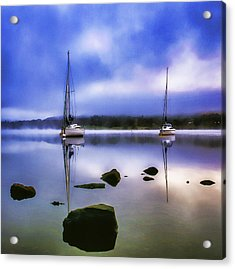 Boats On Ullswater Acrylic Print