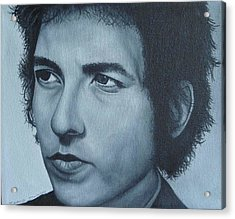 Acrylic Print featuring the painting Bob Dylan by David Dunne