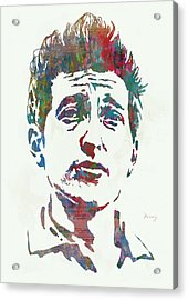 Bob Dylan - Stylised Etching Pop Art Poster Acrylic Print