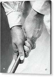 Bobby Jones Holding A Golf Club Acrylic Print by O. B. Keeler