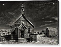 Bodie Church Acrylic Print by Robert Fawcett