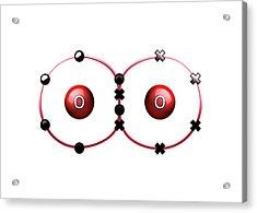Bond Formation In Oxygen Molecule Acrylic Print