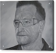 Acrylic Print featuring the painting Bono by David Dunne