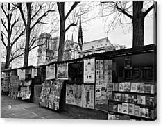 Acrylic Print featuring the photograph Book Sellers By The Seine / Paris by Barry O Carroll