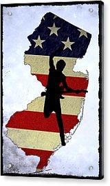 Born In New Jersey Acrylic Print