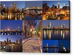 Boston Skyline Photography Acrylic Print by Juergen Roth