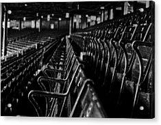 Bostons Fenway Park Baseball Vintage Seats Acrylic Print