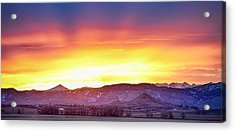 Boulder County Haystack Rocky Mountain Sunset Acrylic Print by James BO  Insogna