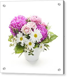 Bouquet Of Flowers Acrylic Print by Elena Elisseeva