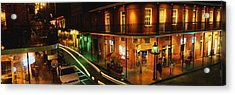 Bourbon Street New Orleans La Acrylic Print by Panoramic Images