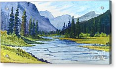 Bow River Acrylic Print