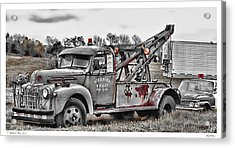 Break Down Acrylic Print by Richard Bean