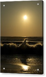 Breaking Waves Acrylic Print by Skip Tribby