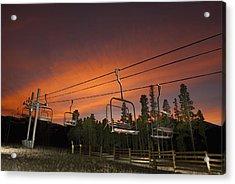 Breckenridge Chairlift Sunset Acrylic Print