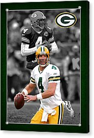 Brett Favre Packers Acrylic Print by Joe Hamilton