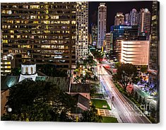 Brickell Ave Downtown Miami  Acrylic Print by Michael Moriarty