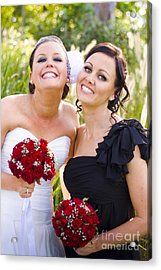 Bride With Maid-of-honor Acrylic Print