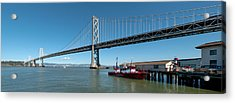 Bridge Across A Bay, Bay Bridge, San Acrylic Print