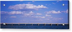 Bridge Across A Bay, Sunshine Skyway Acrylic Print