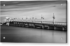 Bridge Of Lions Acrylic Print by David Mcchesney