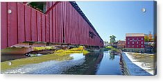 Bridgeton Bridge And Mill Acrylic Print