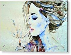 Brigitte Bardot Acrylic Print by Ismeta Gruenwald