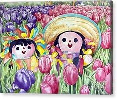 Brings May Flowers Acrylic Print