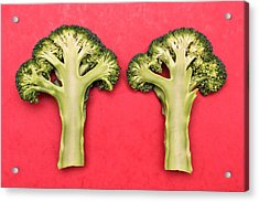 Broccoli Acrylic Print by Tom Gowanlock