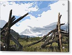Broken Fence Acrylic Print by Jack McAward