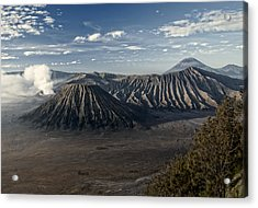 Bromo Mountain Acrylic Print by Miguel Winterpacht