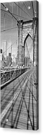 Brooklyn Bridge Manhattan New York City Acrylic Print by Panoramic Images