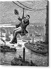 Brooklyn Suspension Bridge Acrylic Print by Universal History Archive/uig