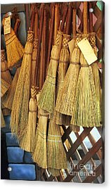 Brooms For Sale Acrylic Print by David Smith