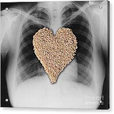 Brown Rice, Heart Healthy Acrylic Print by Gwen Shockey