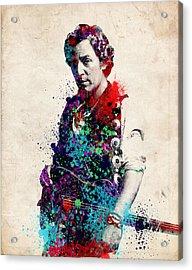 Bruce Springsteen  Acrylic Print by Bekim Art