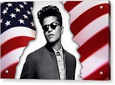 Bruno Mars Acrylic Print