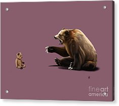 Acrylic Print featuring the drawing Brunt Colour by Rob Snow