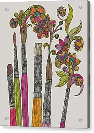 Brushes Acrylic Print by Valentina