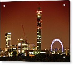 Bt Tower And The London Eye Acrylic Print